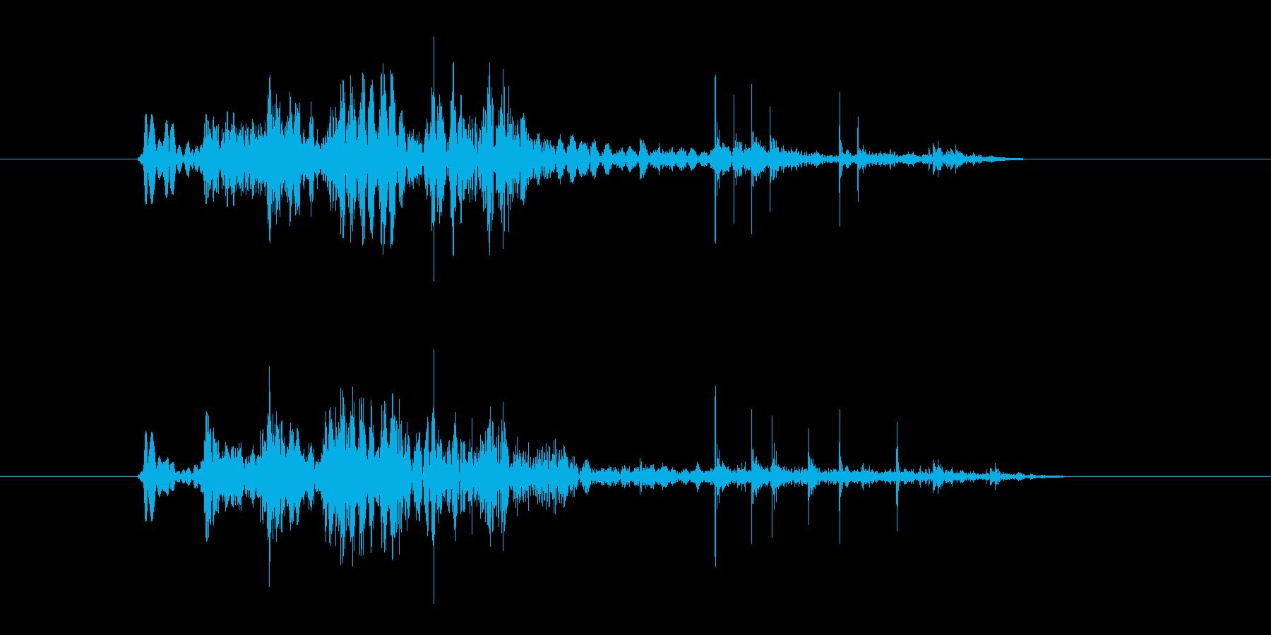 【ポワ、ポチャ】リアルな泡、水滴音03!の再生済みの波形