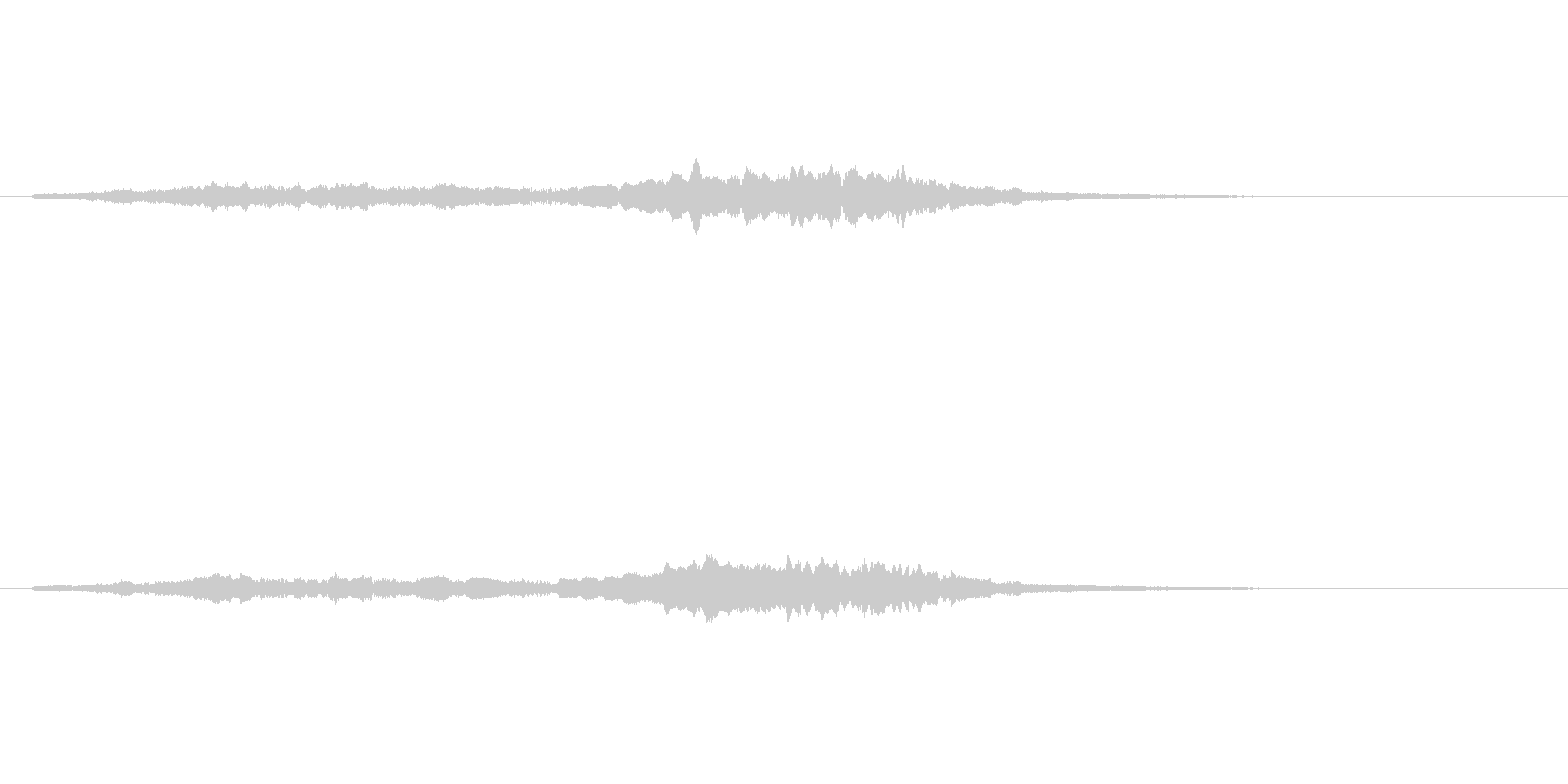 女性コーラスのジングル/アイキャッチの未再生の波形