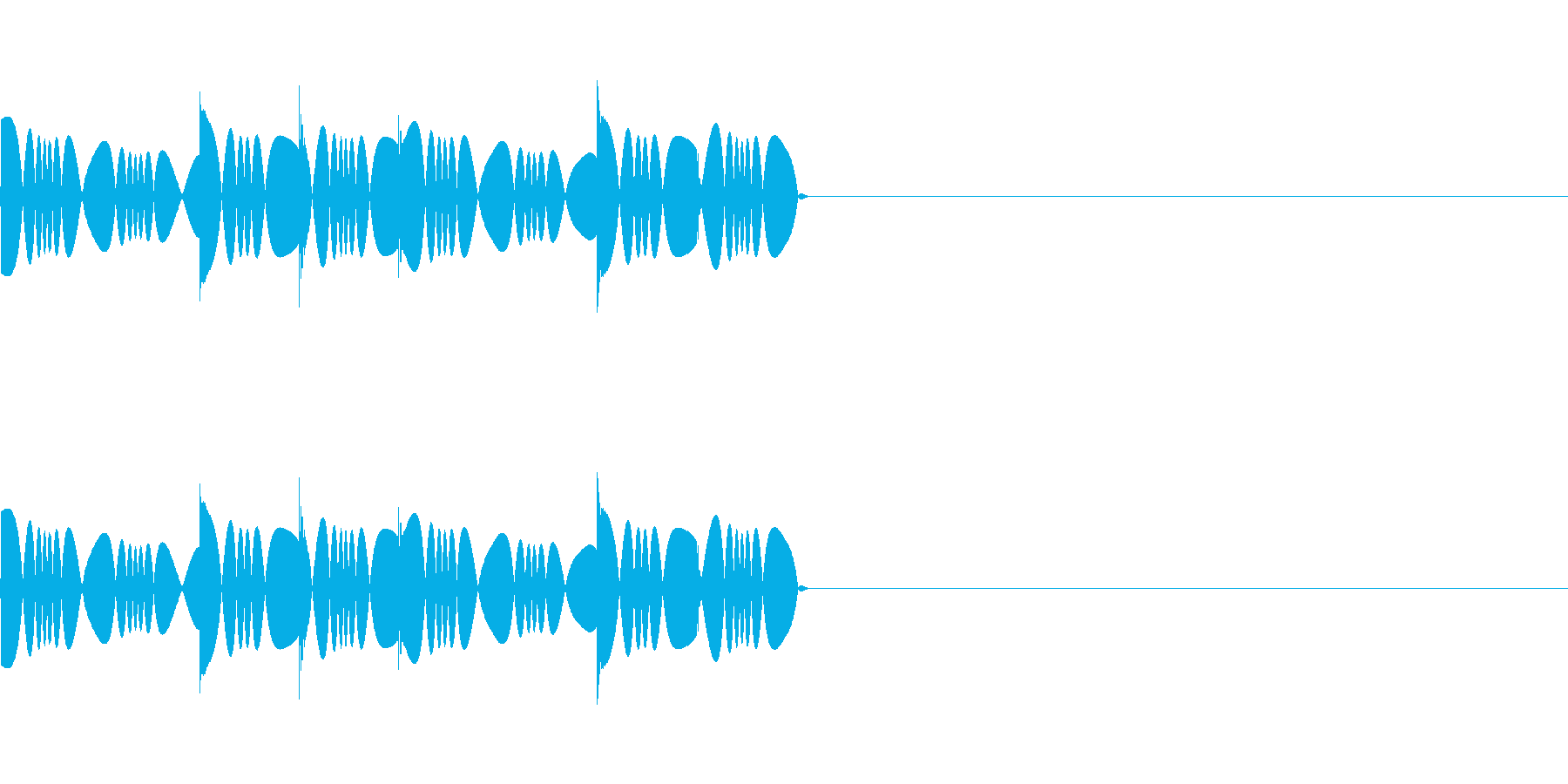 あせあせ・ワナワナ(焦っている効果音)の再生済みの波形