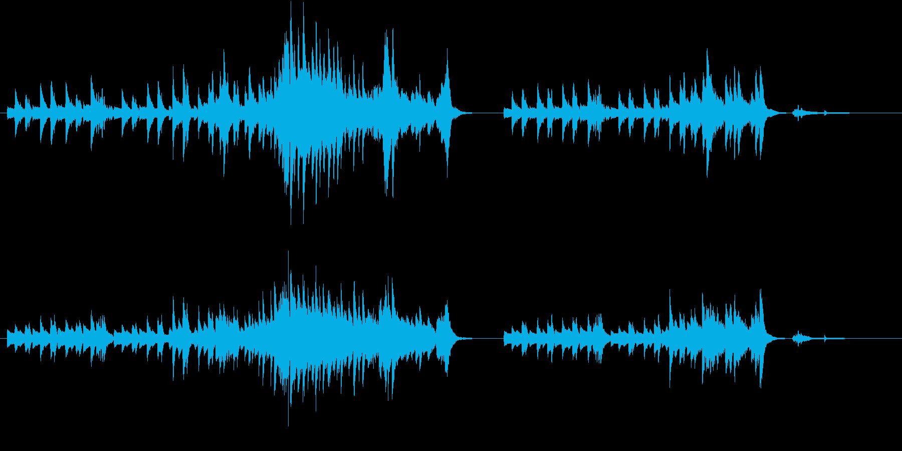 即興的でかっこいいピアノのオリジナル曲の再生済みの波形