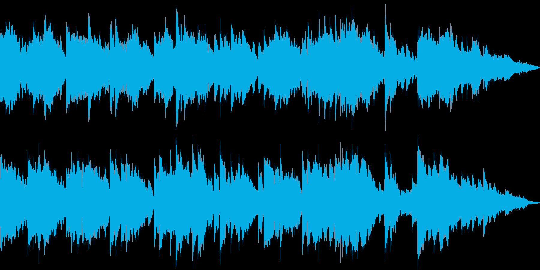 ほのぼのとして安心感のあるジングルの再生済みの波形