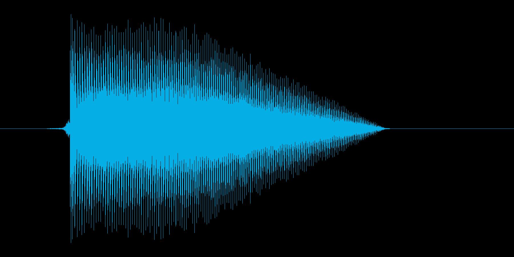 ゲーム(ファミコン風)ジャンプ音_032の再生済みの波形