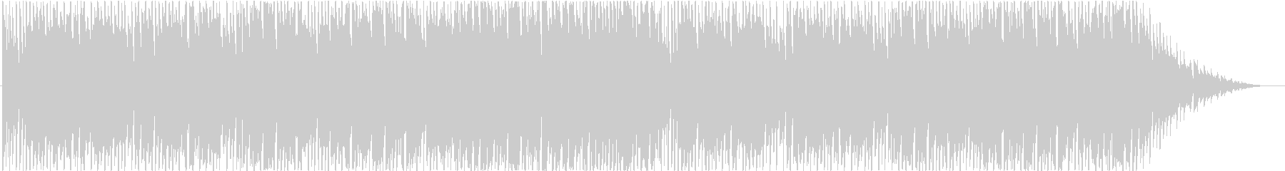 シンセサイザーを使ったコミカルなBGMの未再生の波形