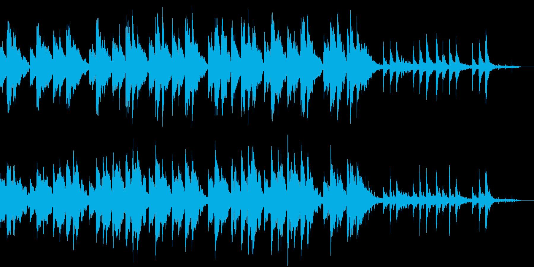 ピアノ中心の染み入るようなアンビエントの再生済みの波形