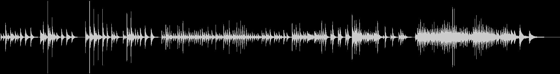 センチメンタルで緩やかなピアノバラードの未再生の波形