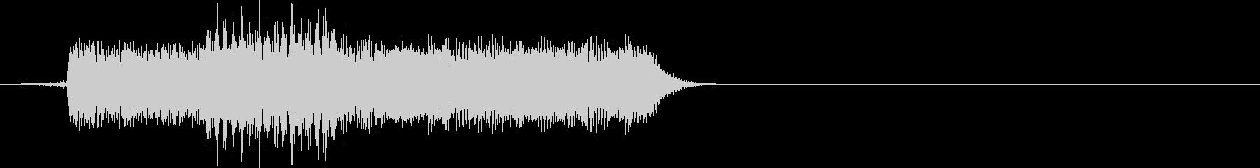 クリック音の未再生の波形