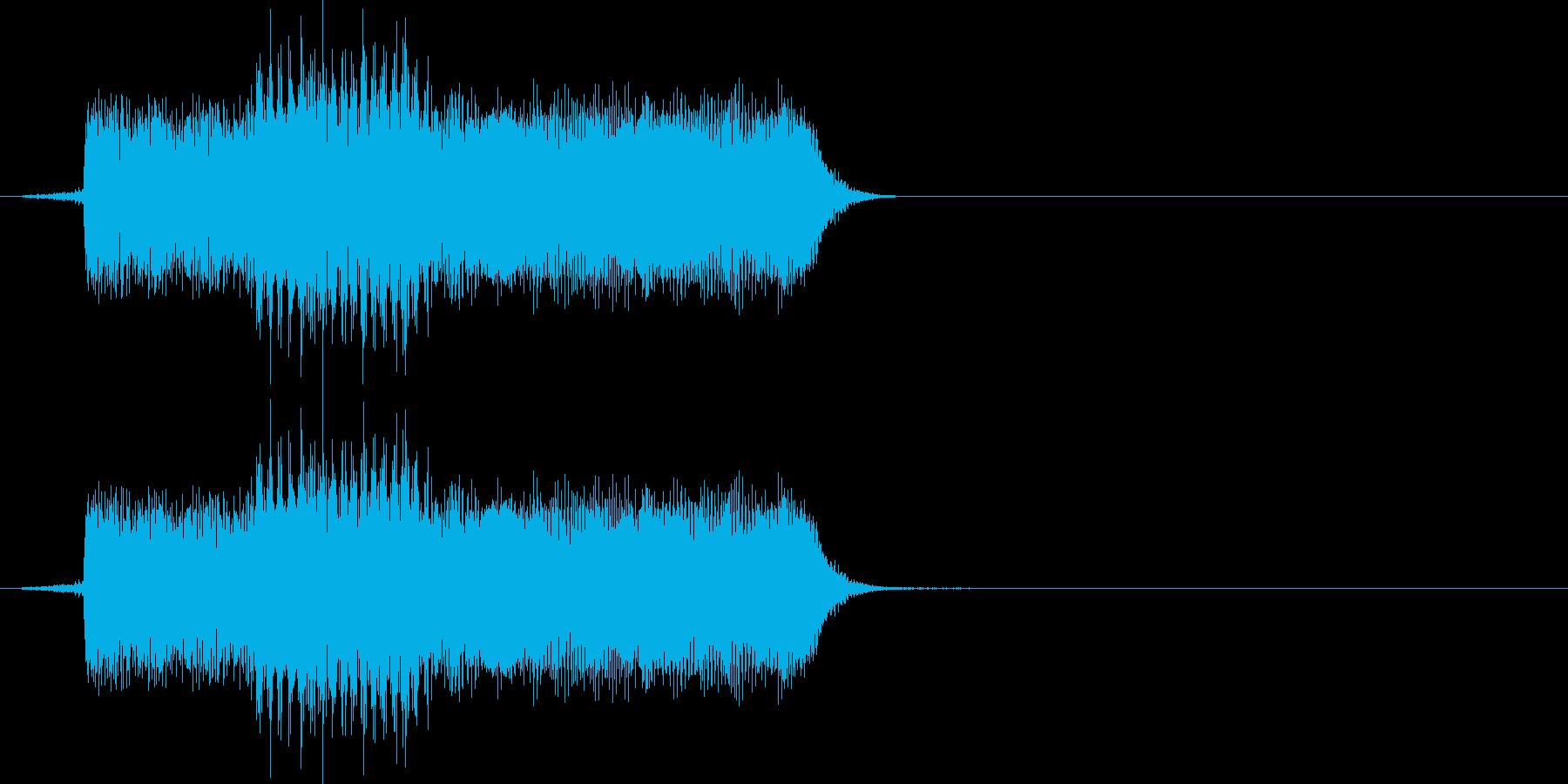 クリック音の再生済みの波形