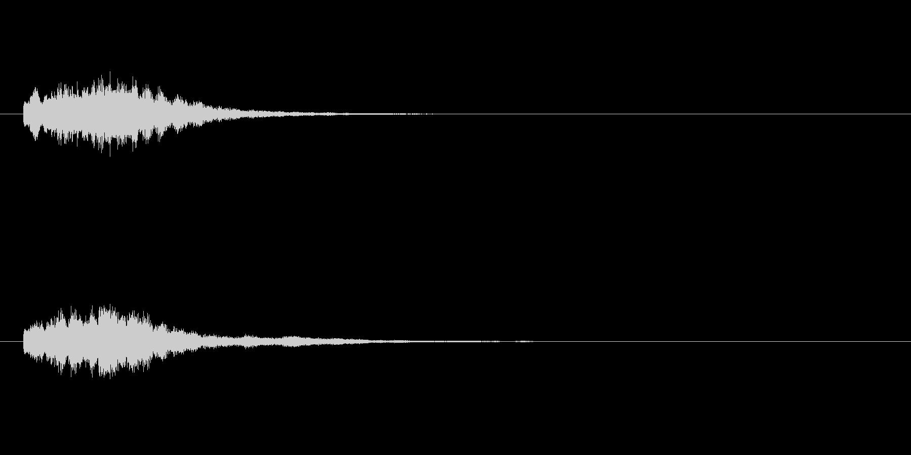 コインなどのアイテム音(キラキラ系)の未再生の波形