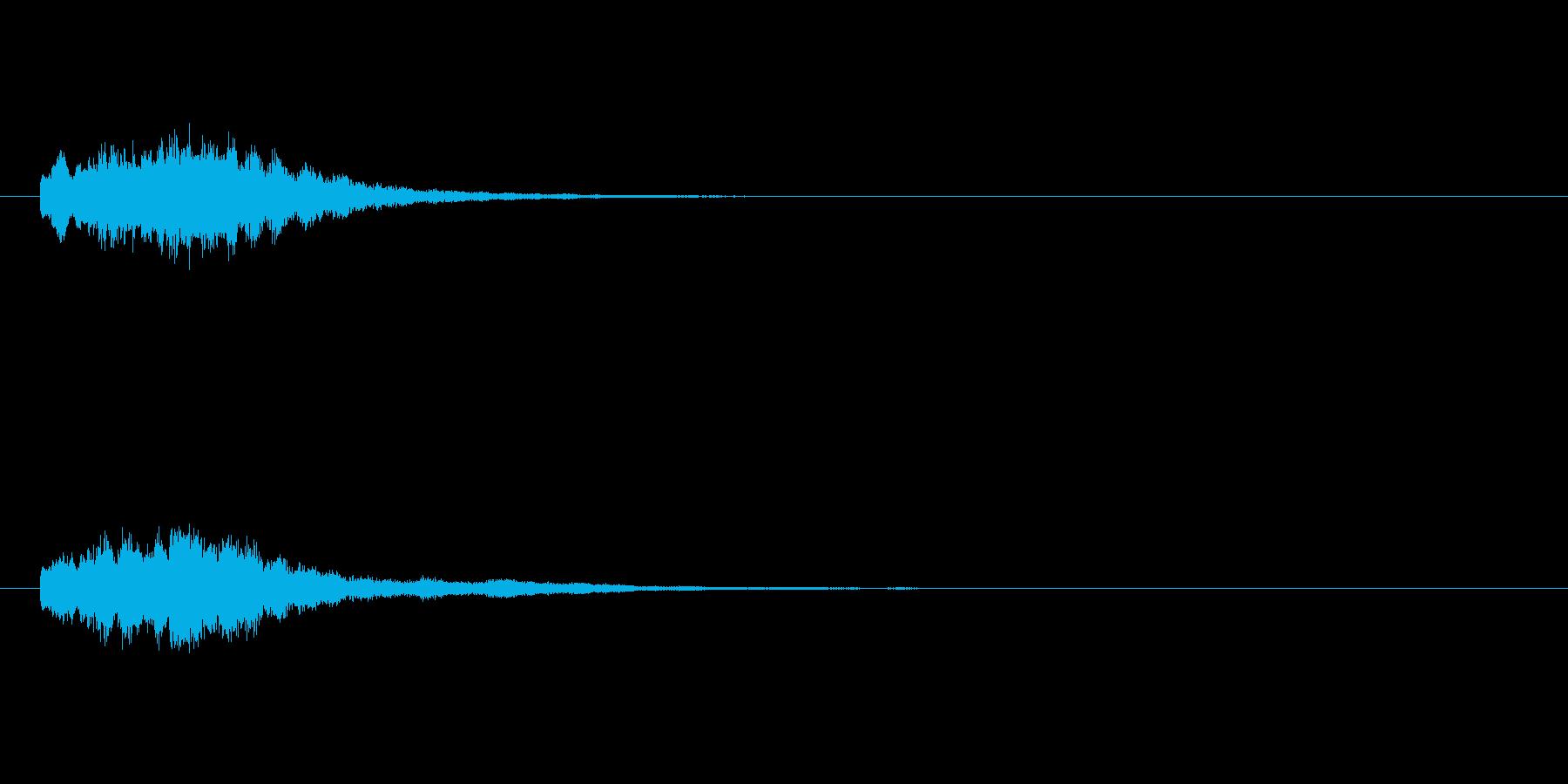 コインなどのアイテム音(キラキラ系)の再生済みの波形
