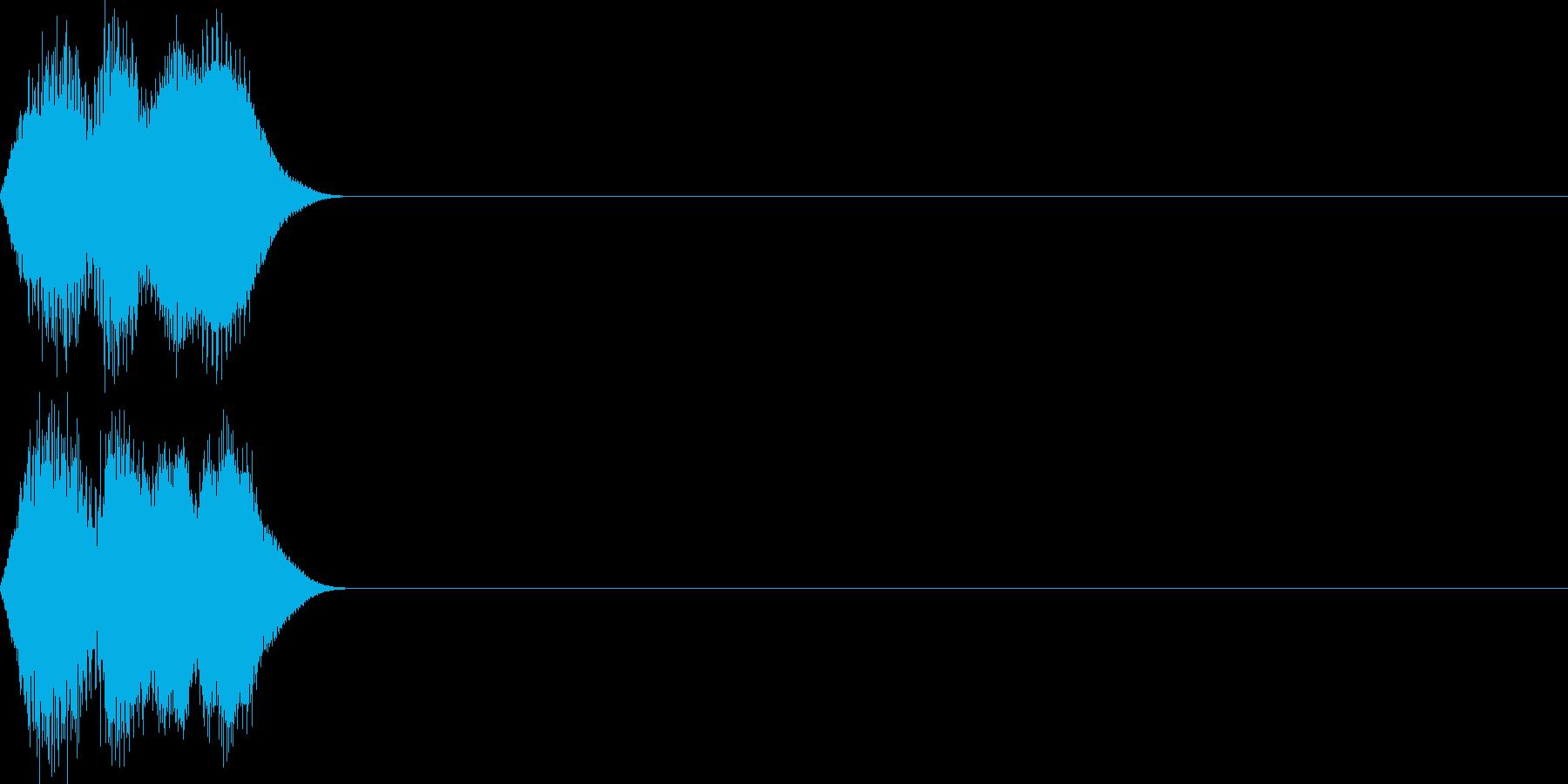 決定音61_シンセMの再生済みの波形