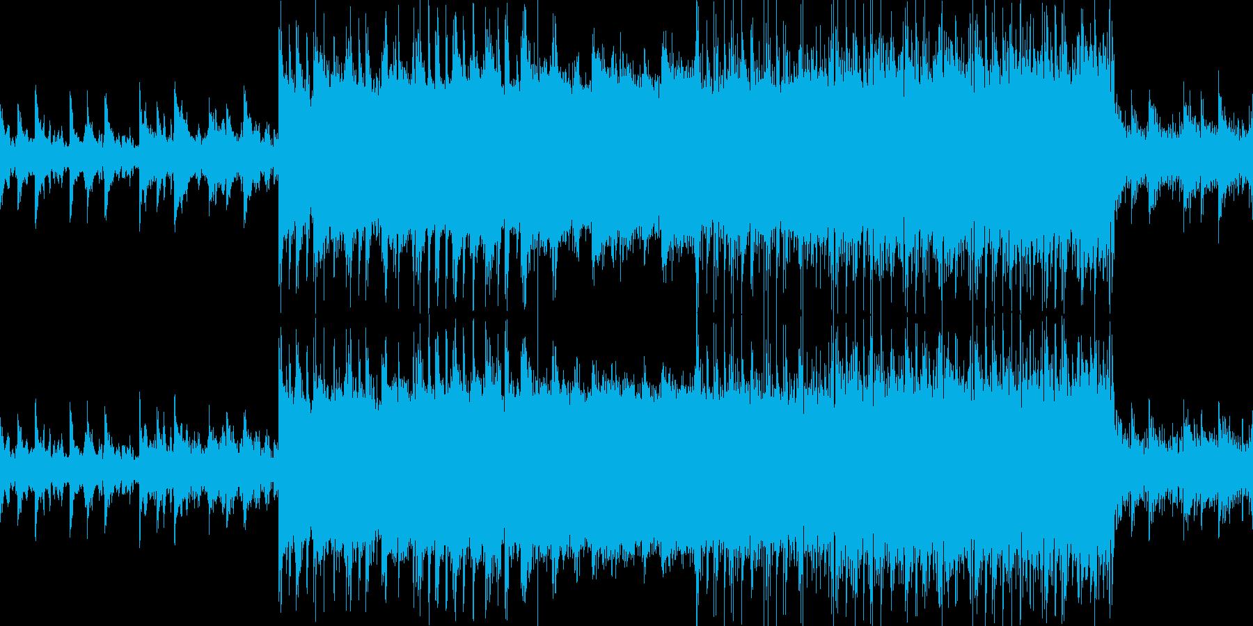 穏やかなエレクトロニカとブレイクビーツの再生済みの波形