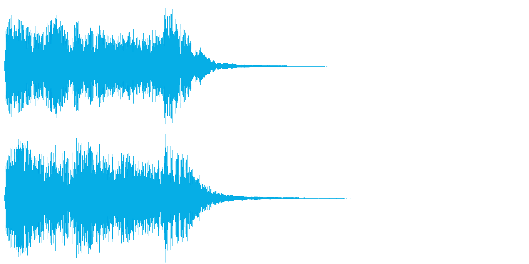 アイドルをイメージしたジングル 2小節Aの再生済みの波形