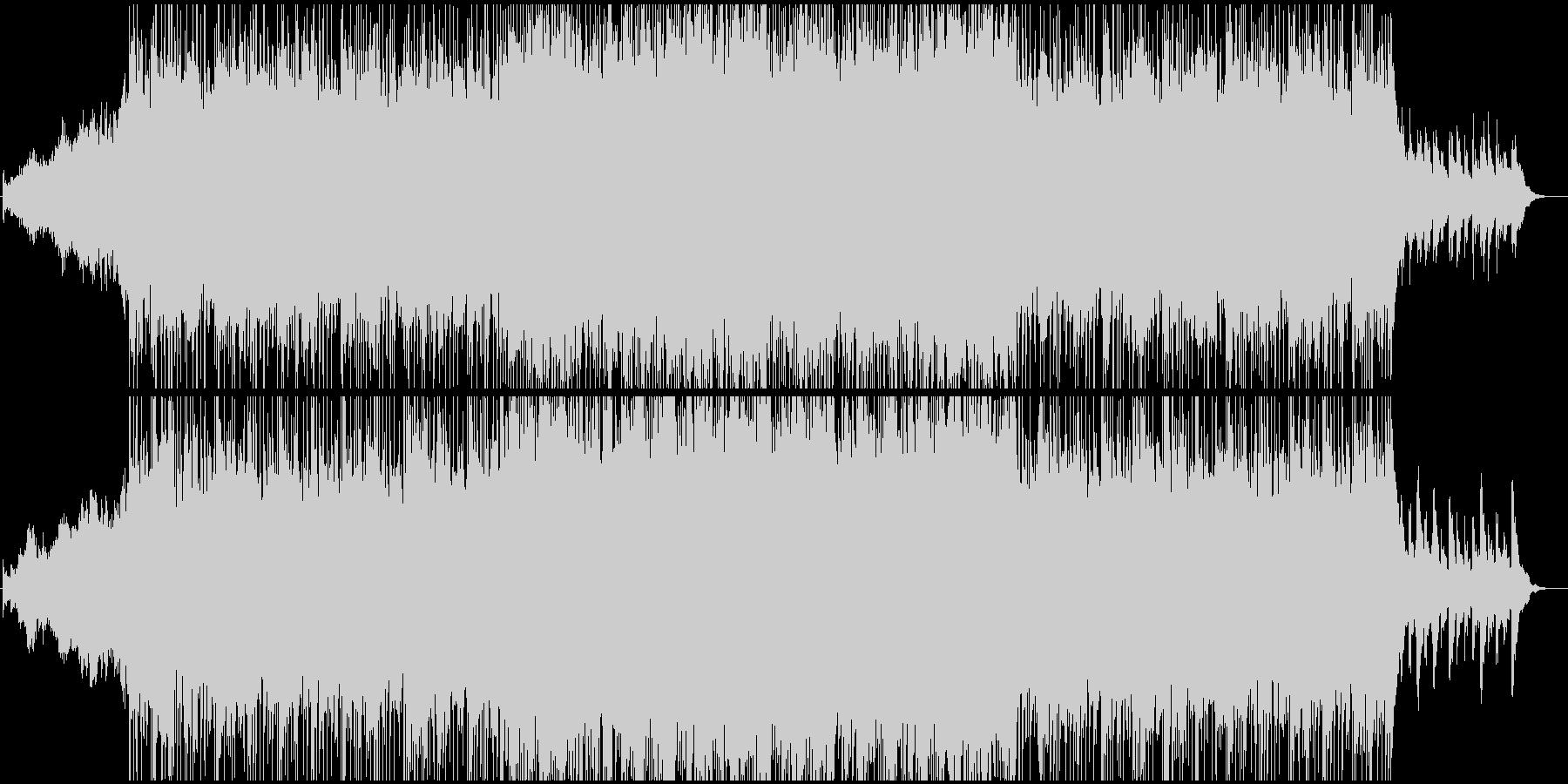 壮厳な雰囲気のBGMの未再生の波形