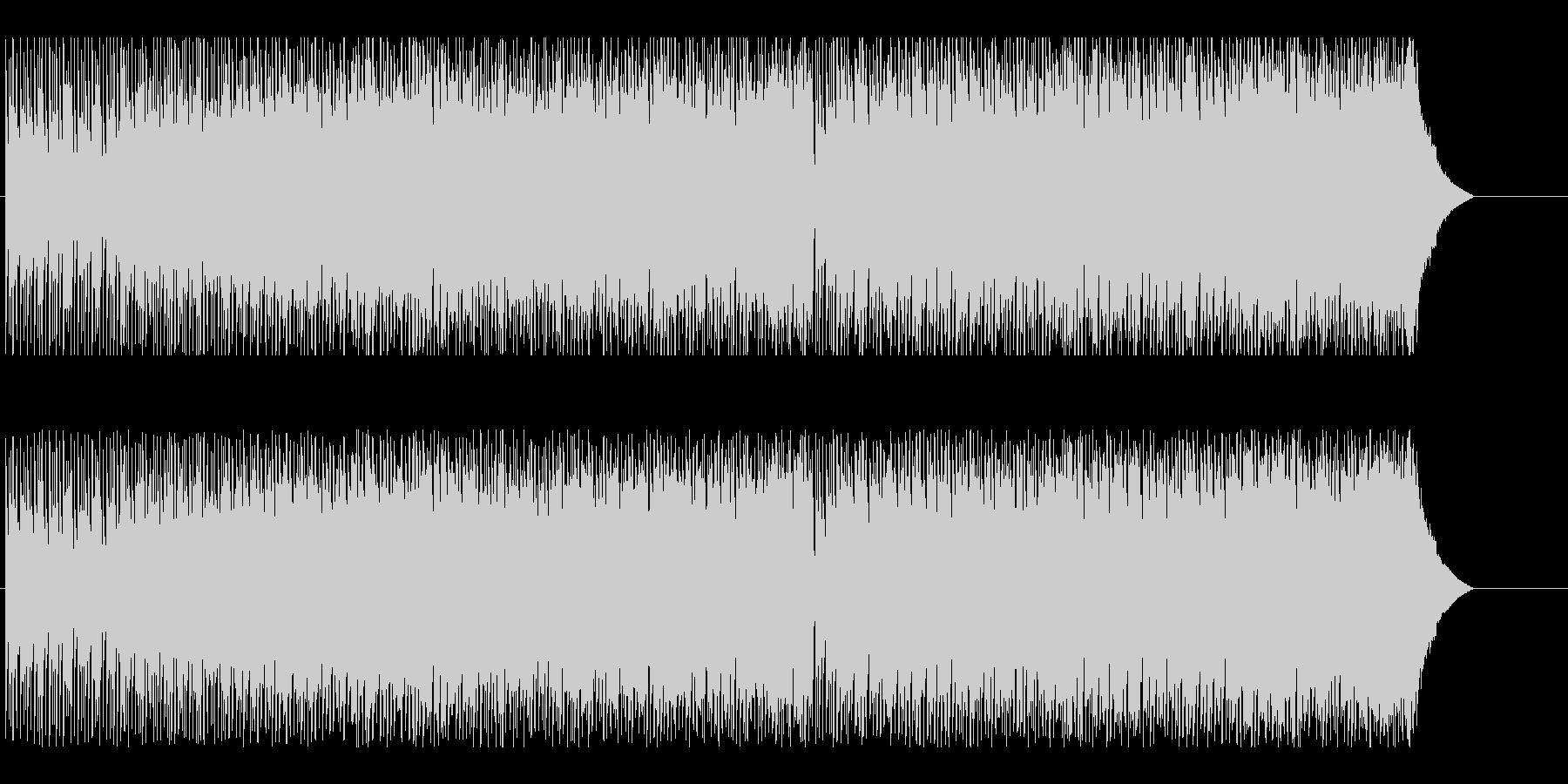 スピード感と爽やかさのあるテクノの未再生の波形