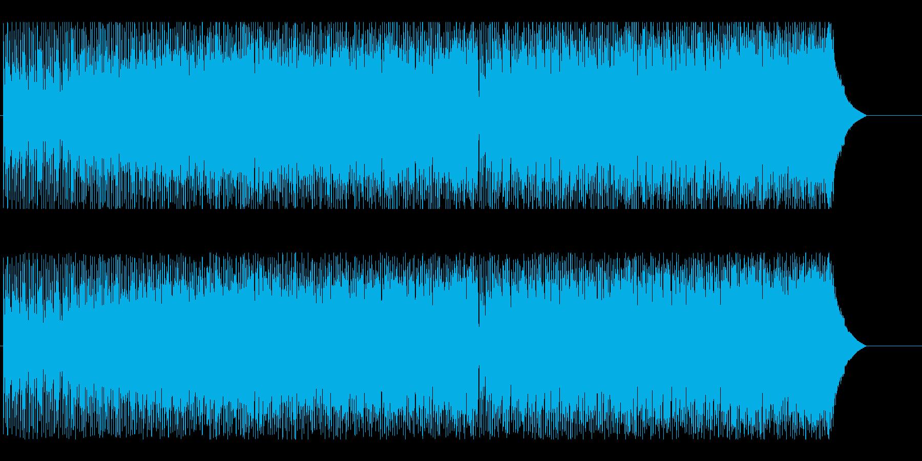 スピード感と爽やかさのあるテクノの再生済みの波形