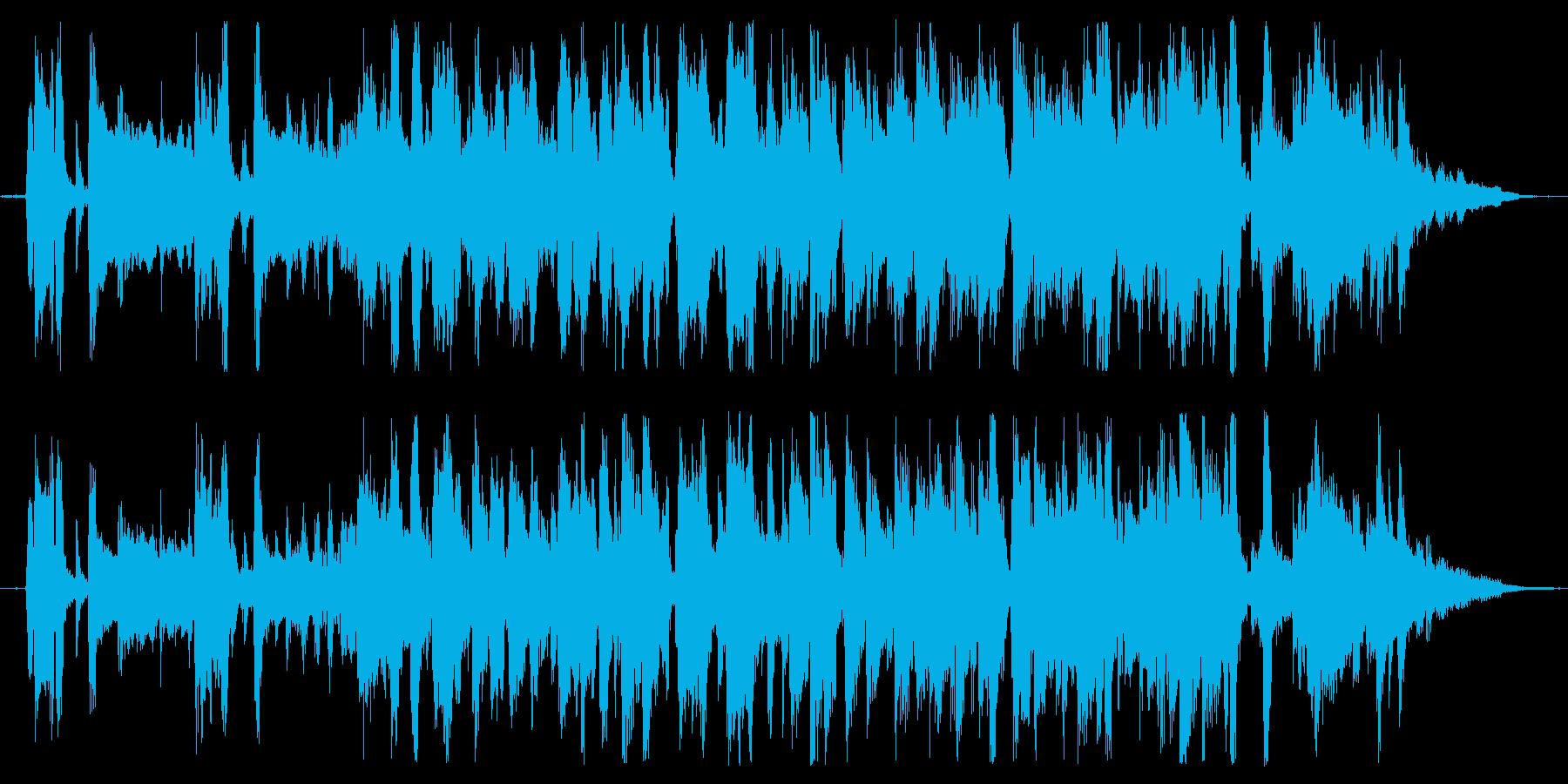 都会的な雰囲気のCM向けジャズ風楽曲の再生済みの波形