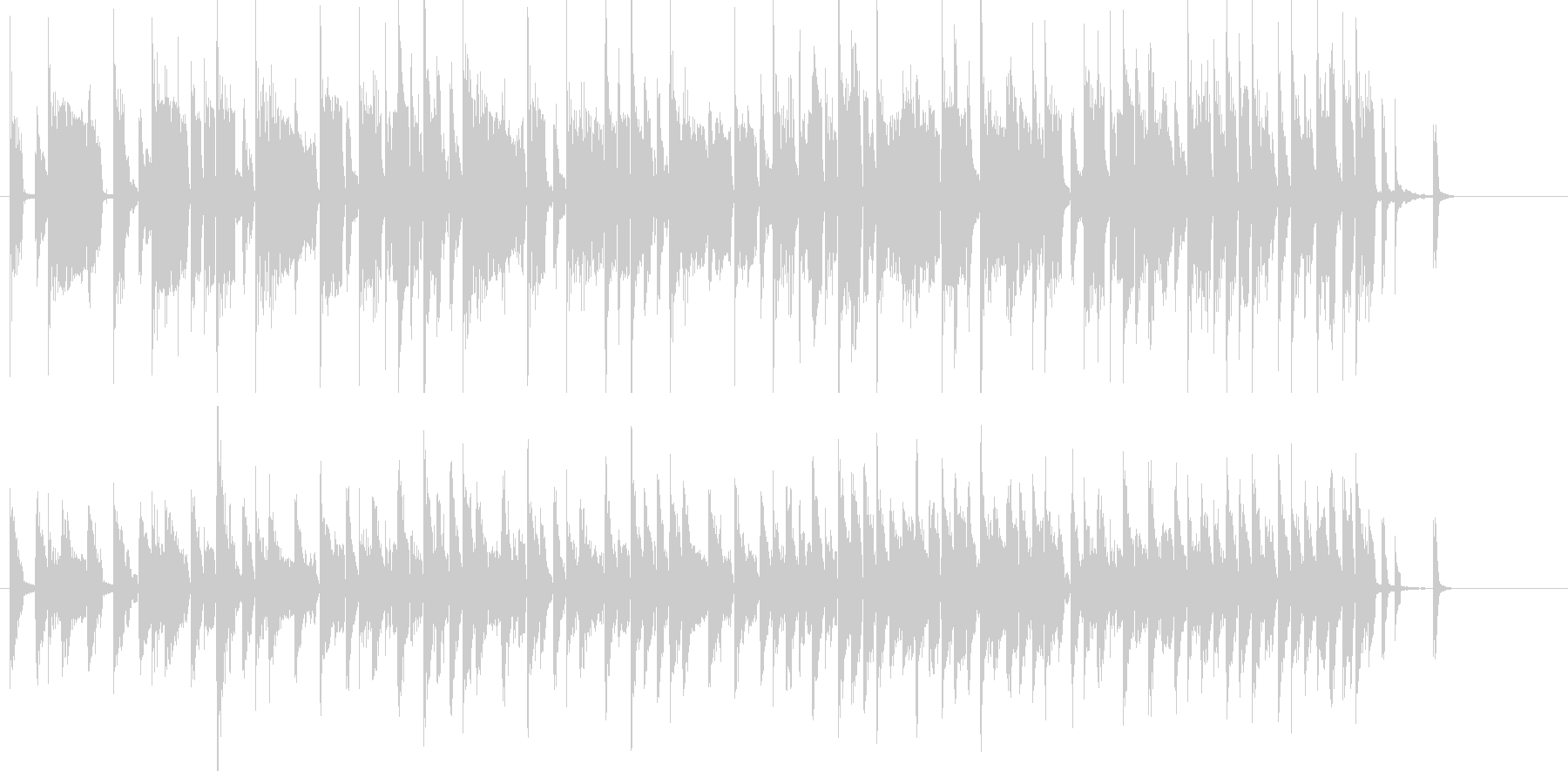 電子音が主役のポップなジングルの未再生の波形