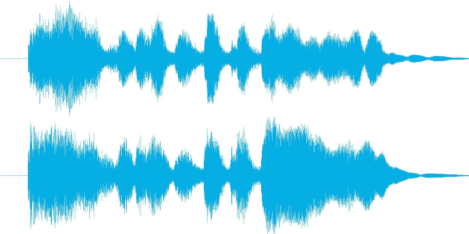 ファンファーレ シンプル ステージクリ…の再生済みの波形