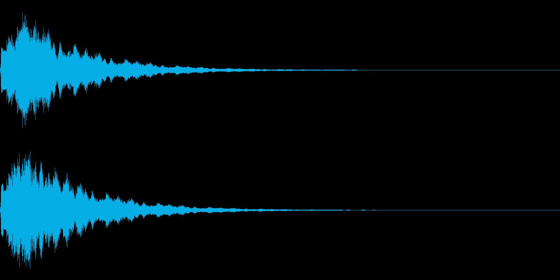 サウンドロゴ13(ベル系)の再生済みの波形