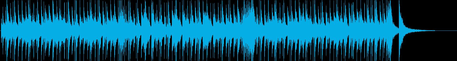 ほのぼのとした口笛風のBGMの再生済みの波形