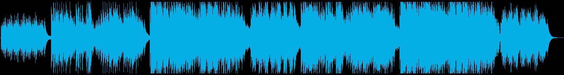 琴と尺八とピアノのせつない和風の曲の再生済みの波形