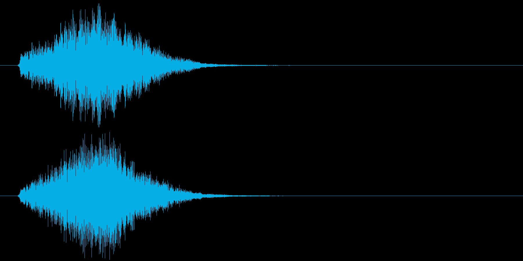 かわいいシンセ_glissの再生済みの波形