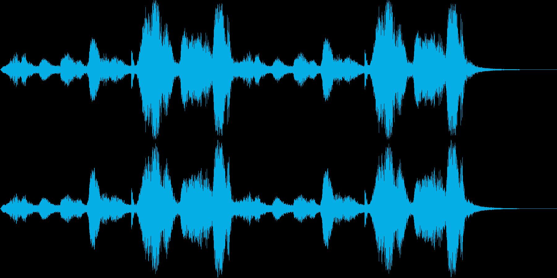 自然の音シリーズ 雷と雨の再生済みの波形