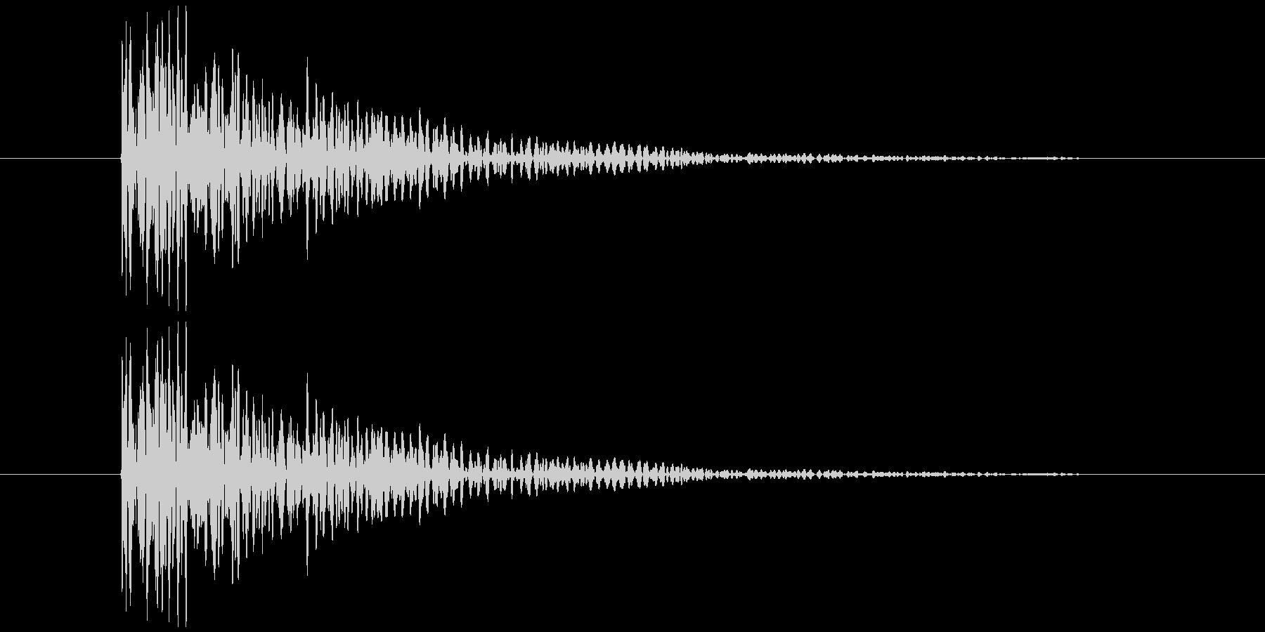 板を叩く音2の未再生の波形