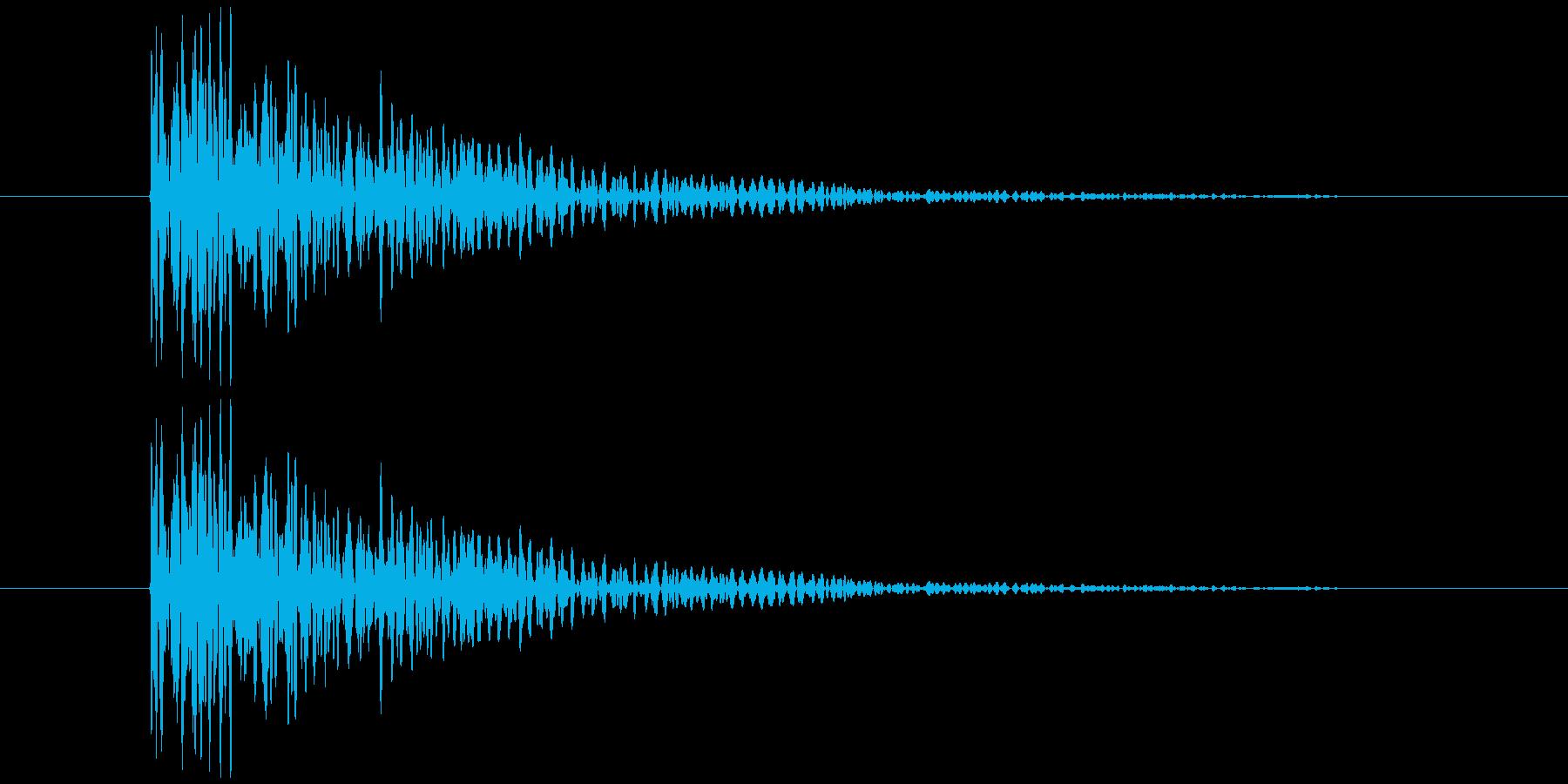 板を叩く音2の再生済みの波形