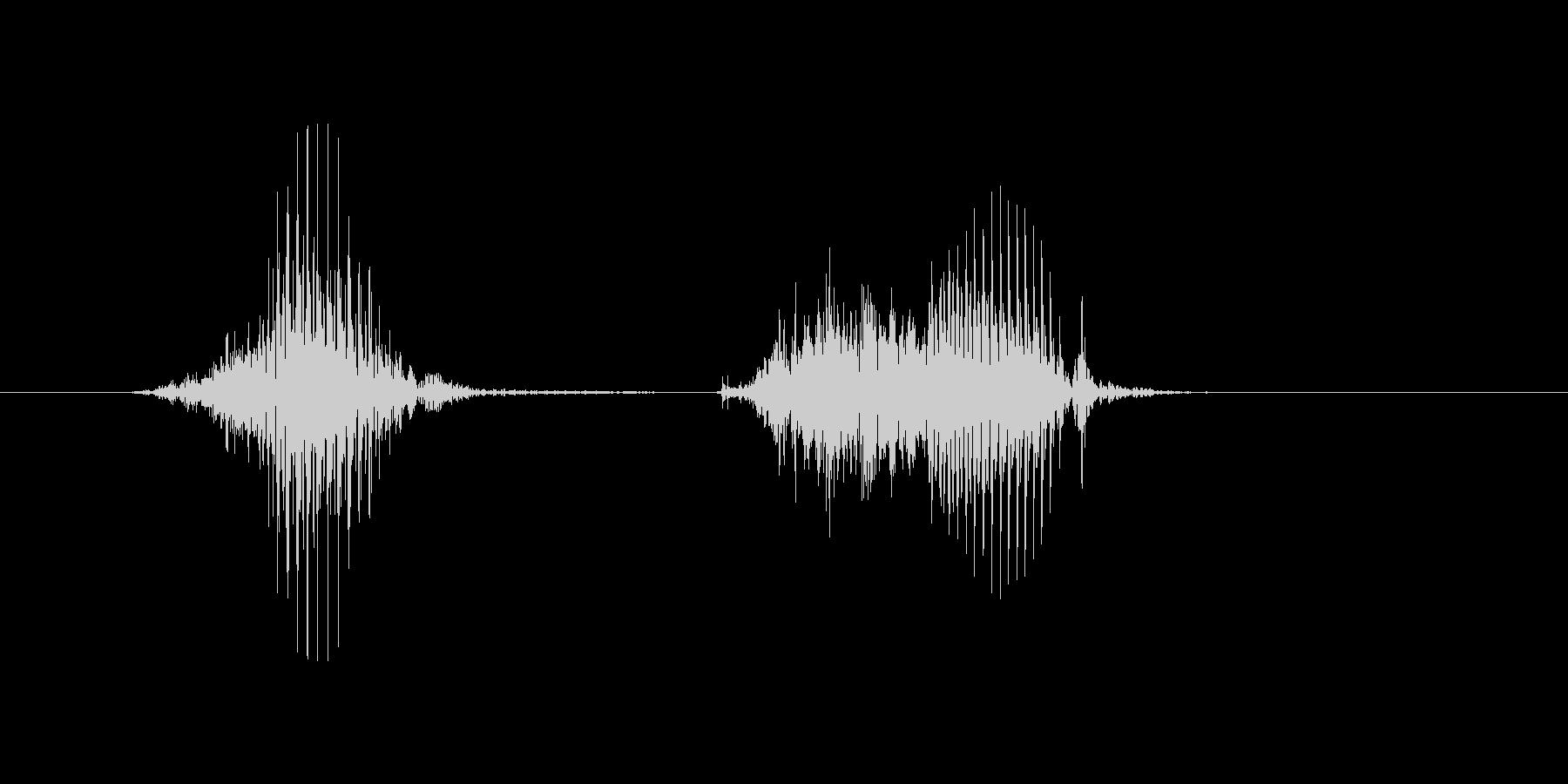 8(8、はち)の未再生の波形