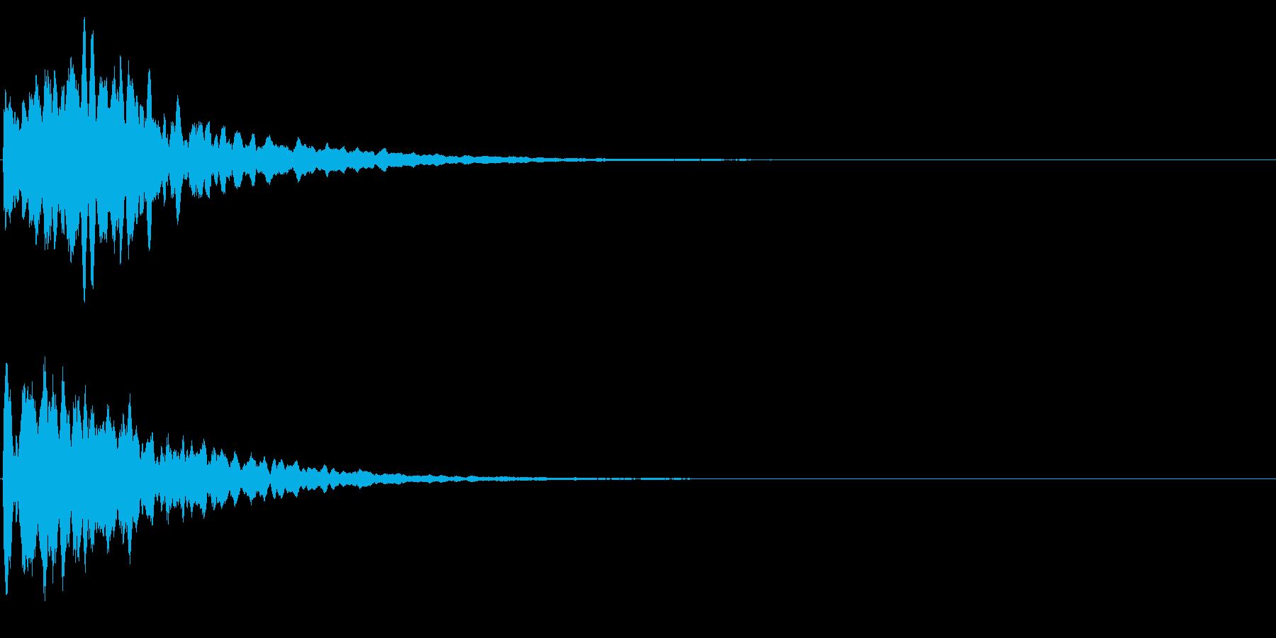ゲームスタート、決定、ボタン音-116の再生済みの波形