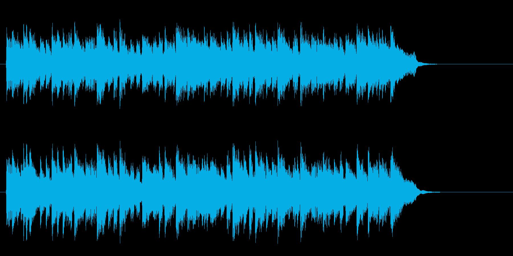 落着いたピアノ風バラード(サビ)の再生済みの波形