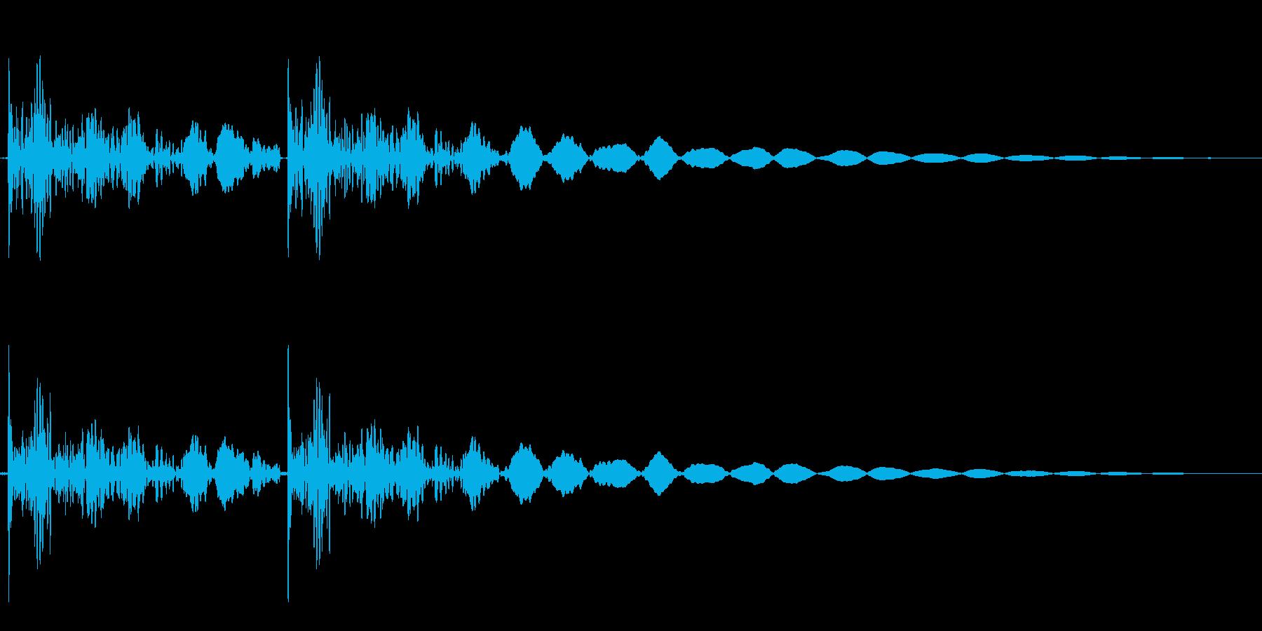 鉄のドアをノック1の再生済みの波形
