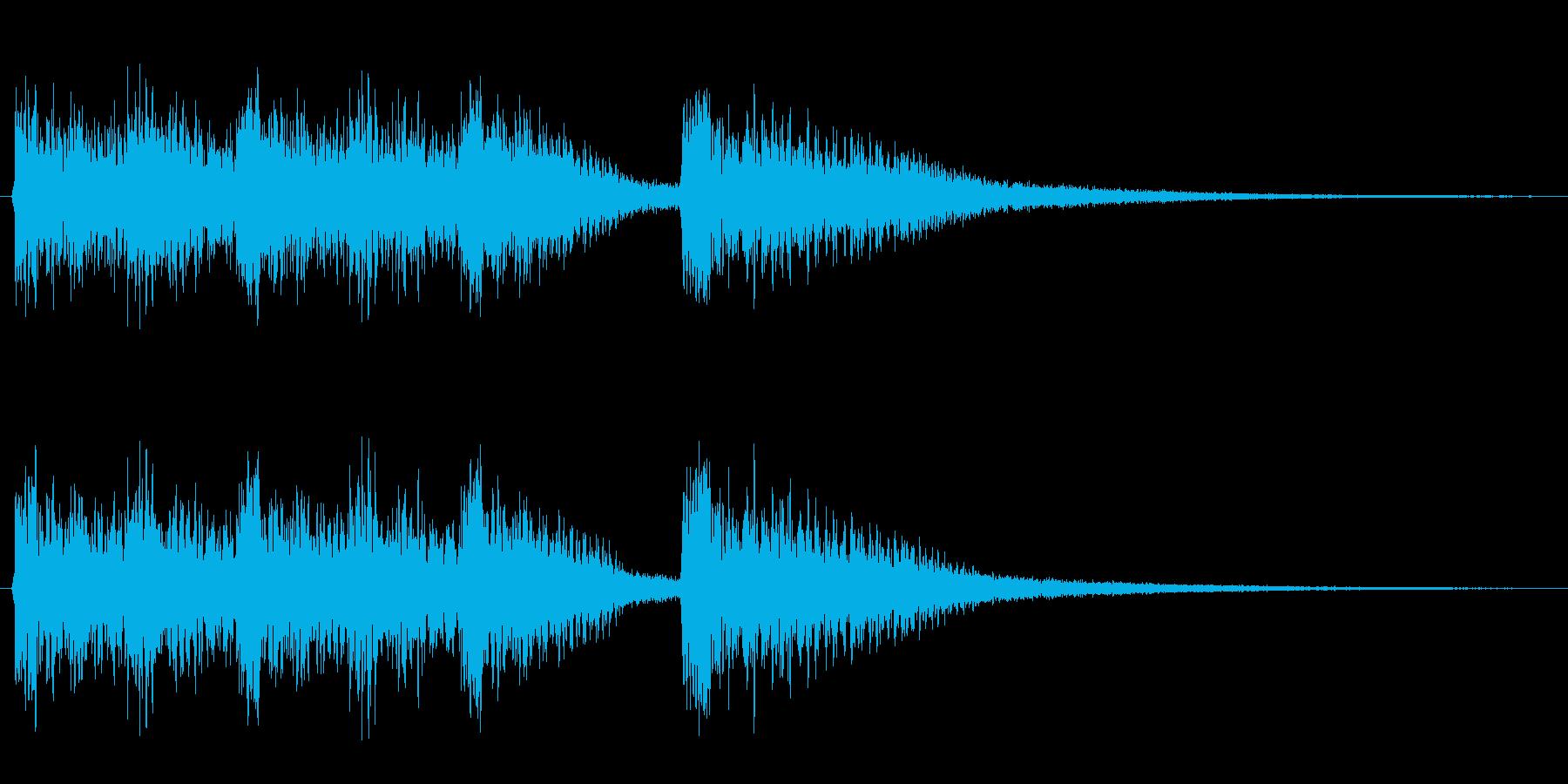 オーケストラを背景に、シンセで奏でた調…の再生済みの波形