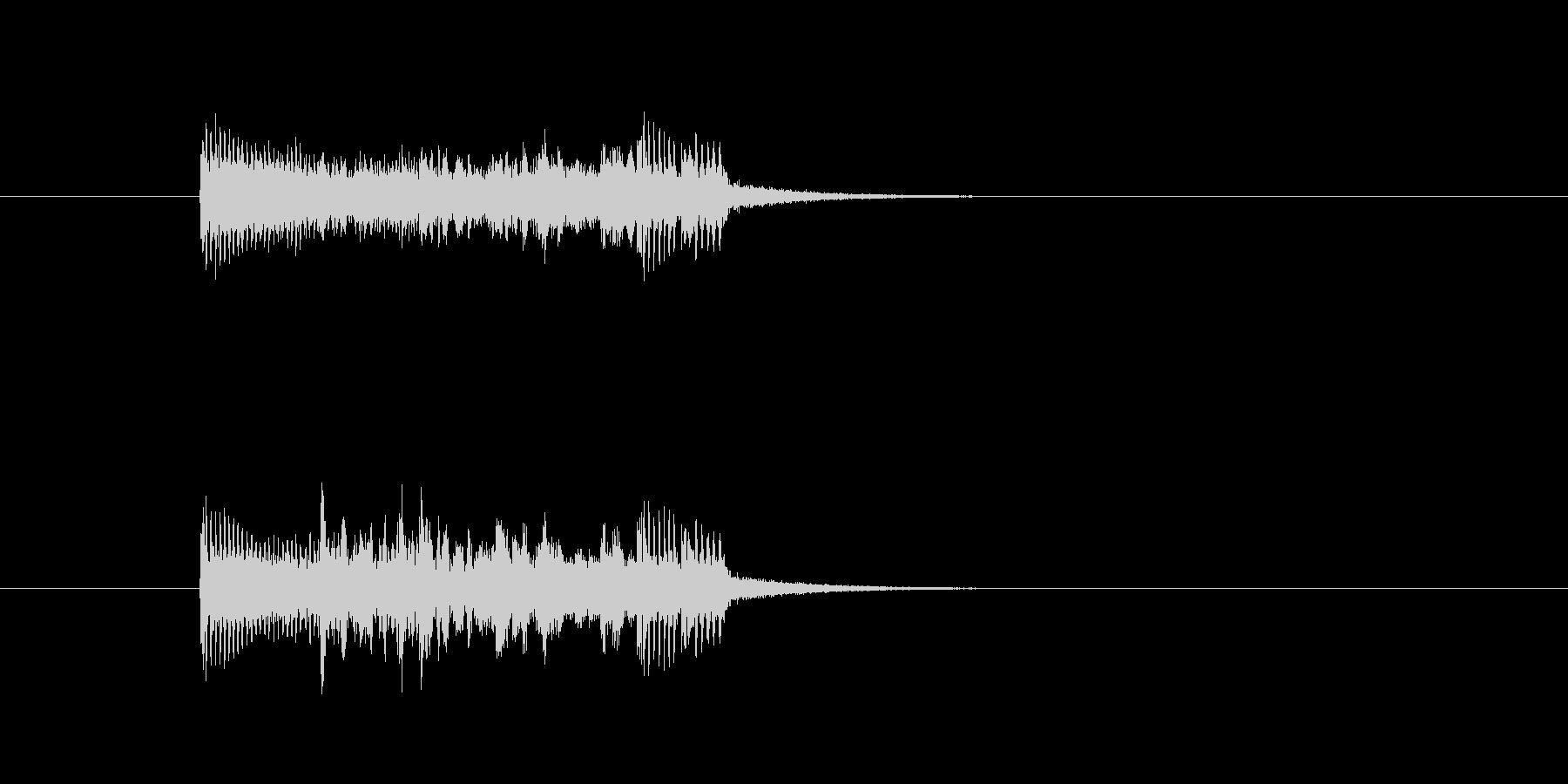 ジングル(ハード調)の未再生の波形