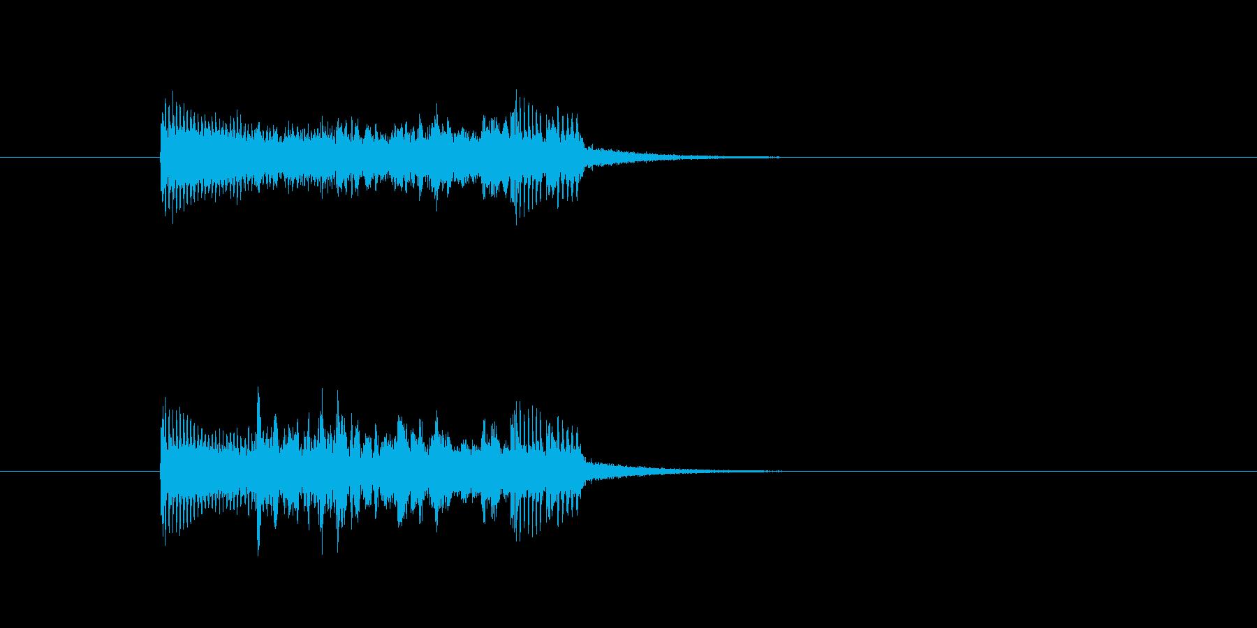 ジングル(ハード調)の再生済みの波形