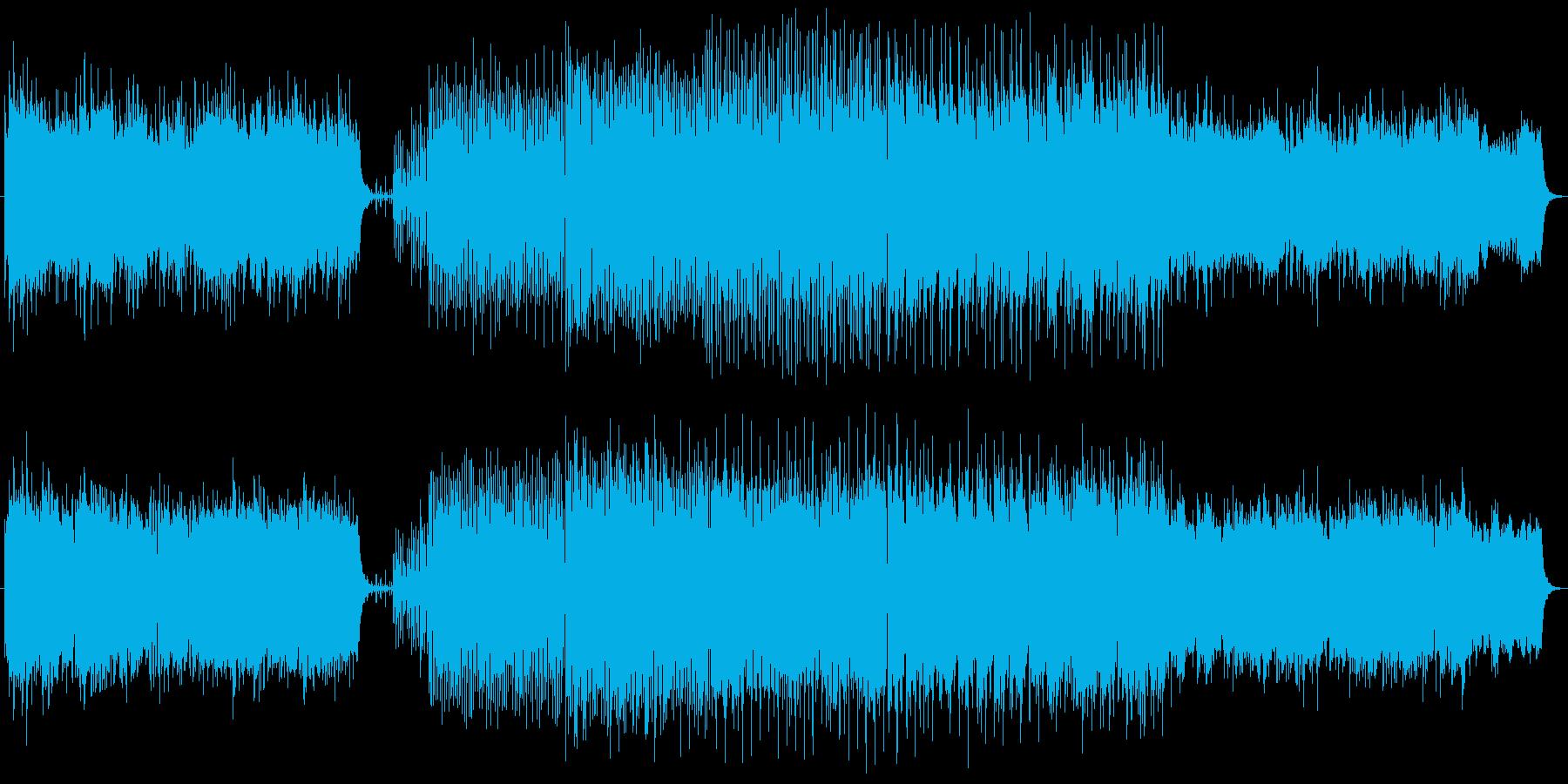 クリスマス定番の讃美歌4曲とジングルベルの再生済みの波形