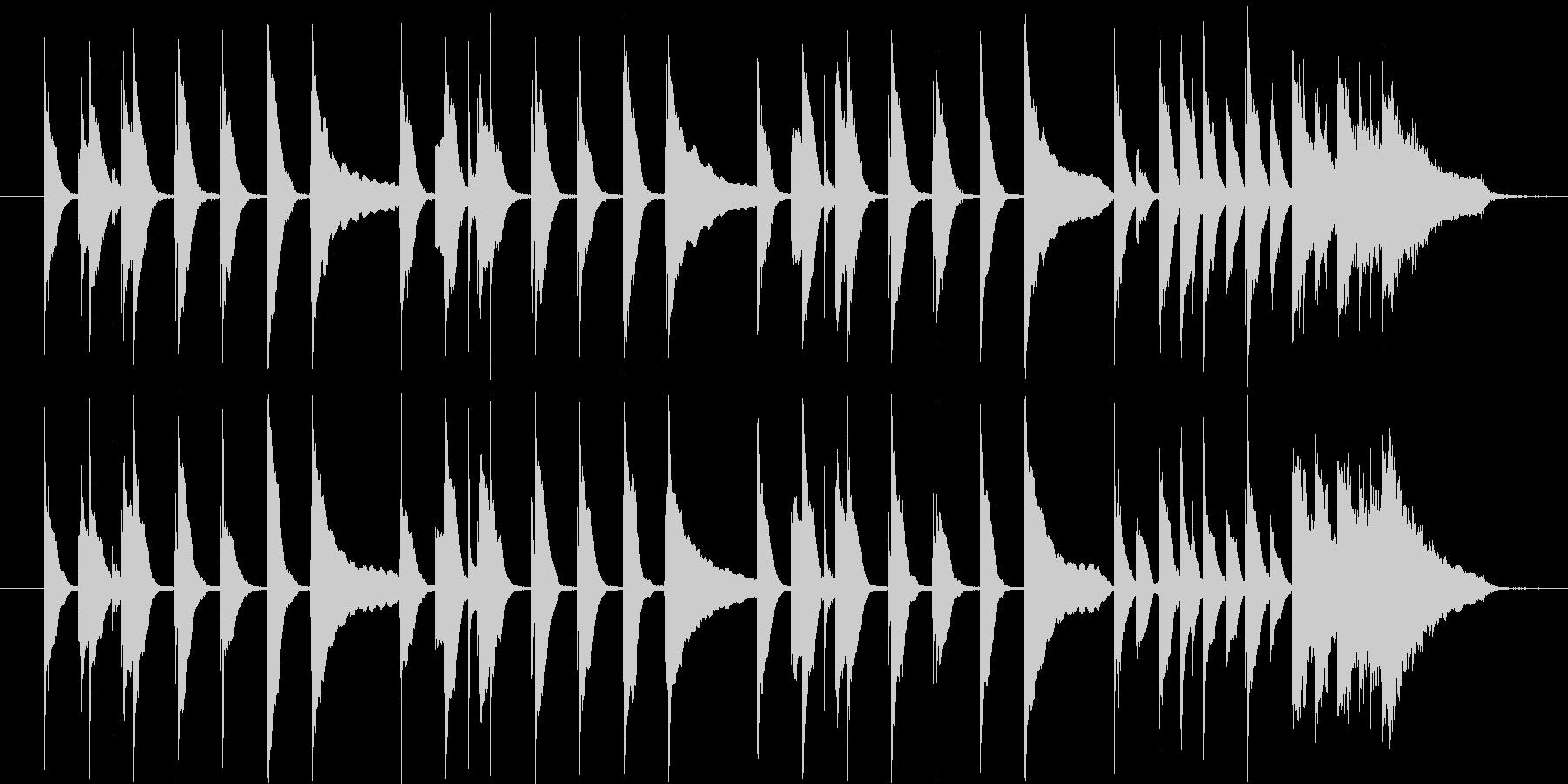 料理番組用の曲の未再生の波形