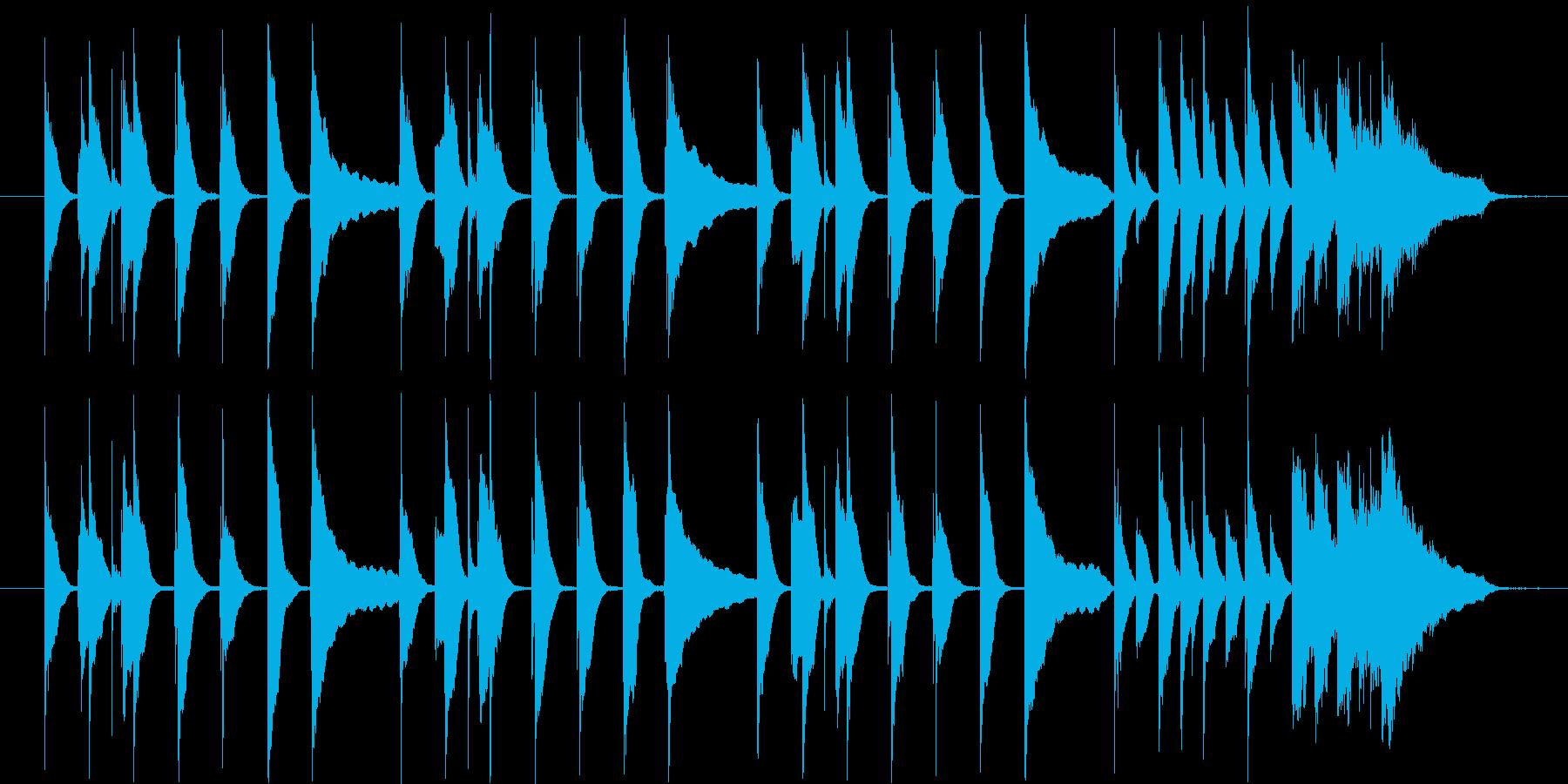 料理番組用の曲の再生済みの波形