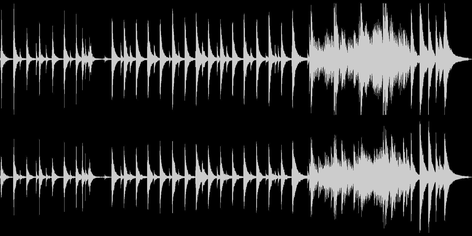 切なく幻想的なゆったりピアノソロの未再生の波形