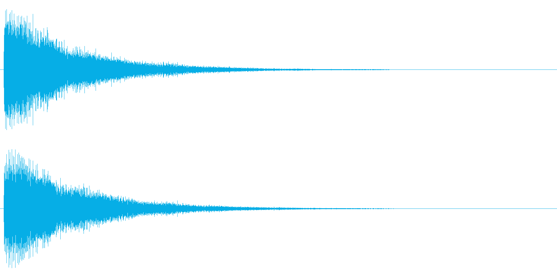 ジャーン(電子的)の再生済みの波形