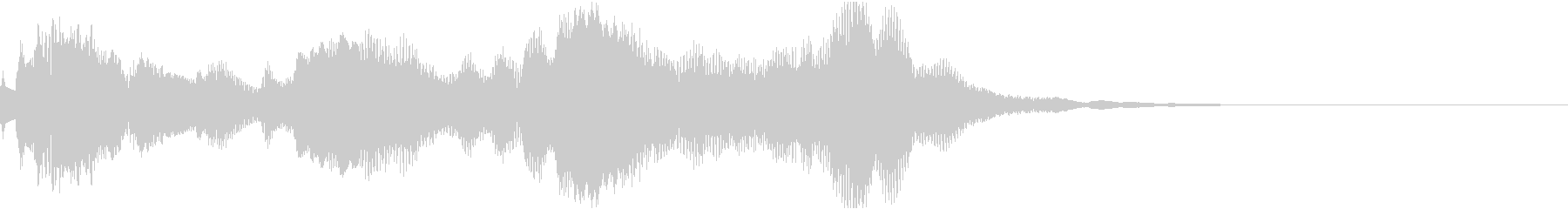 神秘的なクリスタル音02- ジングルCMの未再生の波形