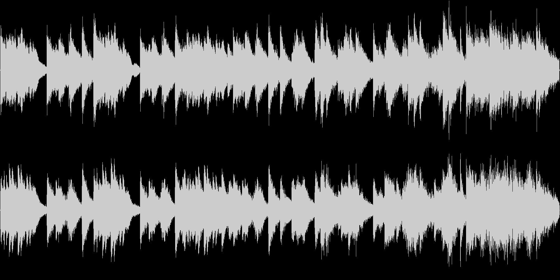 暗い雰囲気のピアノソロ曲(ループ)の未再生の波形