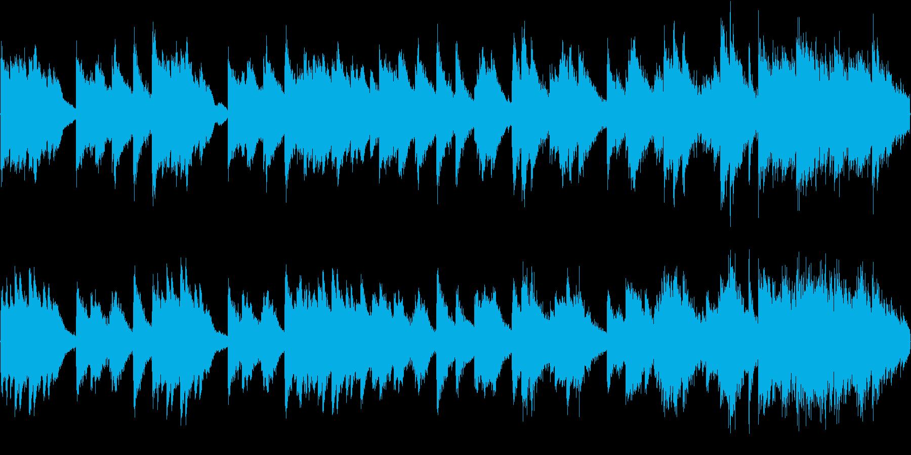 暗い雰囲気のピアノソロ曲(ループ)の再生済みの波形