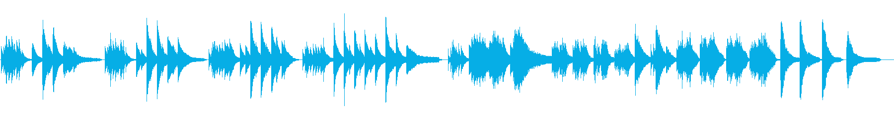 ピアノソロの鬱な曲想_filterなしの再生済みの波形