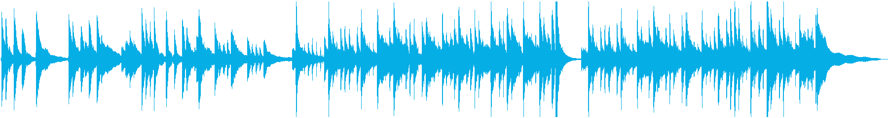 ピアノ、ピチカートのさわやかBGMの再生済みの波形