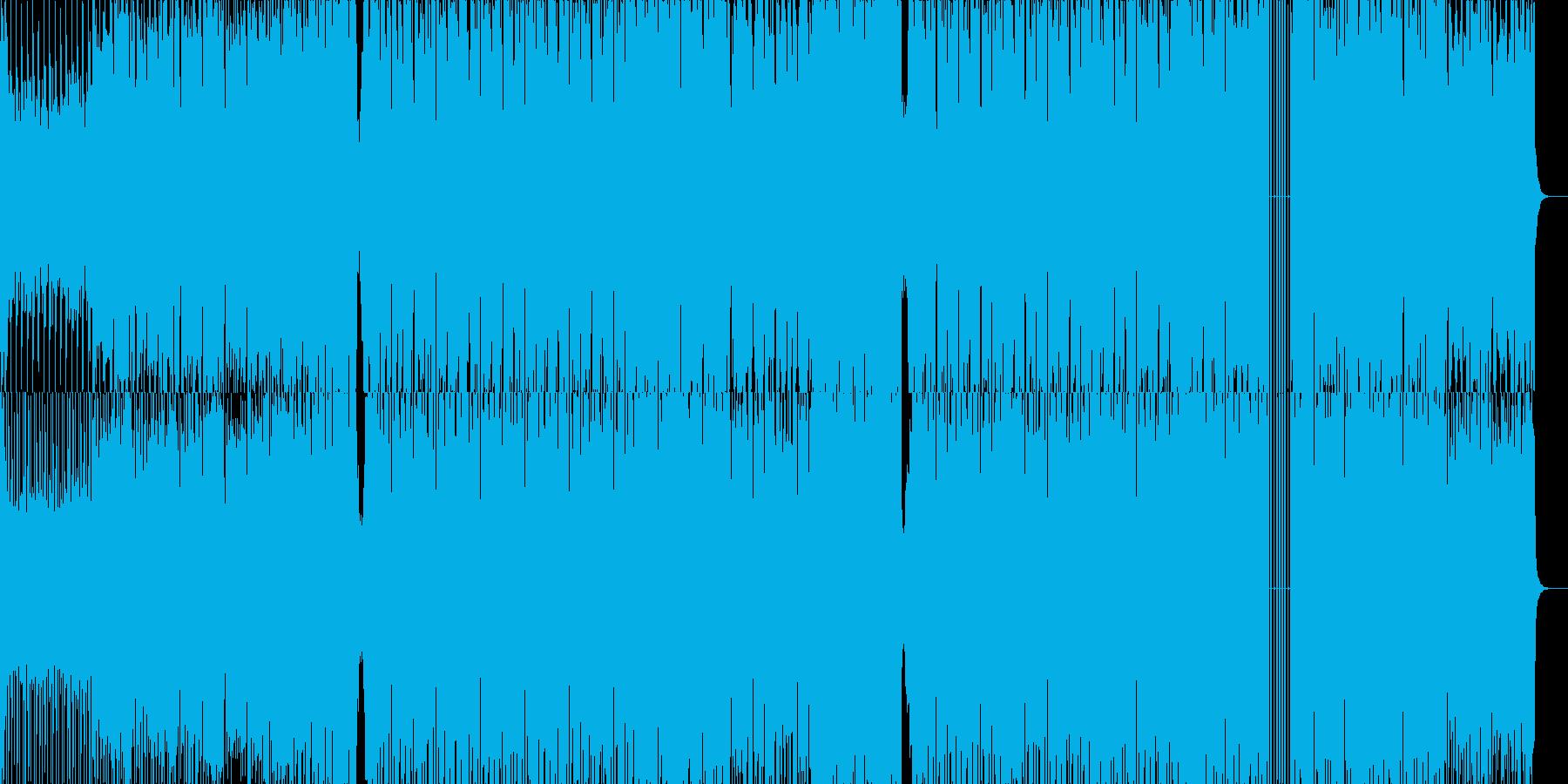 BGMに最適!EDMミュージックの再生済みの波形