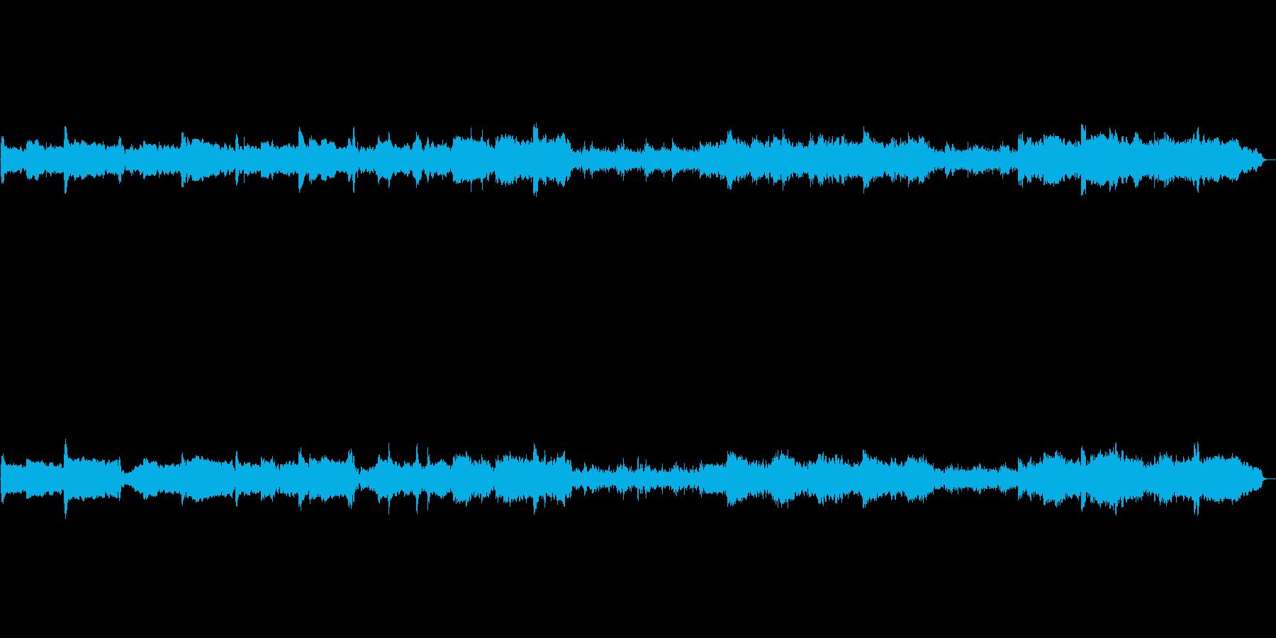 メロディ感の少ない癒しのインスト曲の再生済みの波形