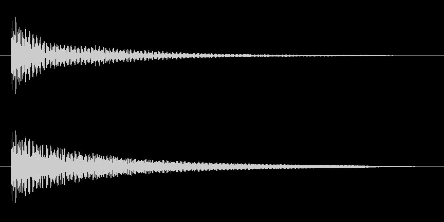 オルゴールでのシンプルな和音(コード)の未再生の波形