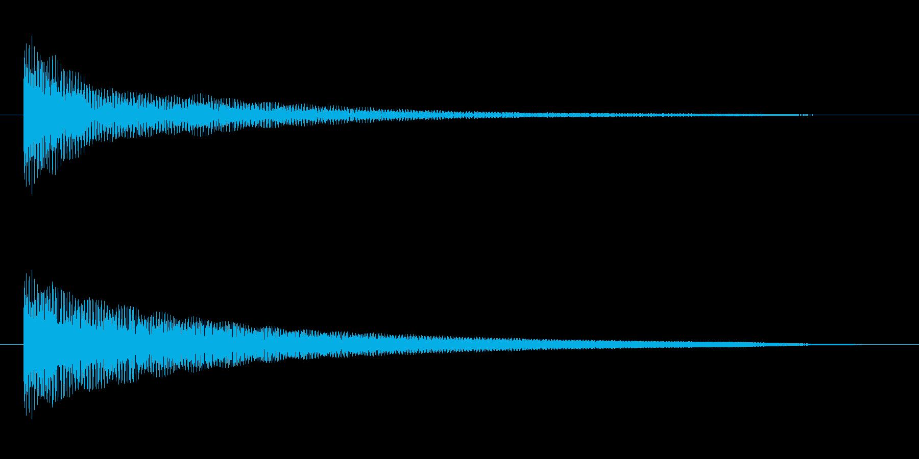 オルゴールでのシンプルな和音(コード)の再生済みの波形